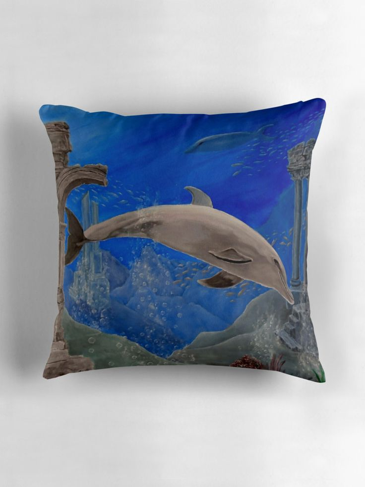 gifts for nature lovers, dolphin, Throw Pillow