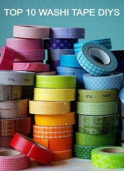 Top 10 Washi Tape Wedding DIY Ideas