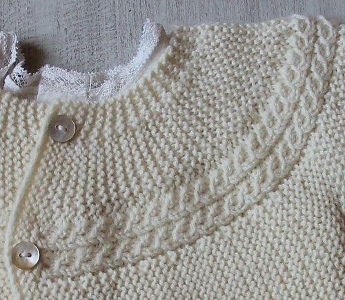 Ravelry: 29 / Princess Charlotte Baby Jacket pattern by Florence Merlin
