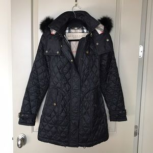 I just added this to my closet on Poshmark: Burberry Brit Diamond Quilted Fox Fur Hooded Coat. Price: $849 Size: S