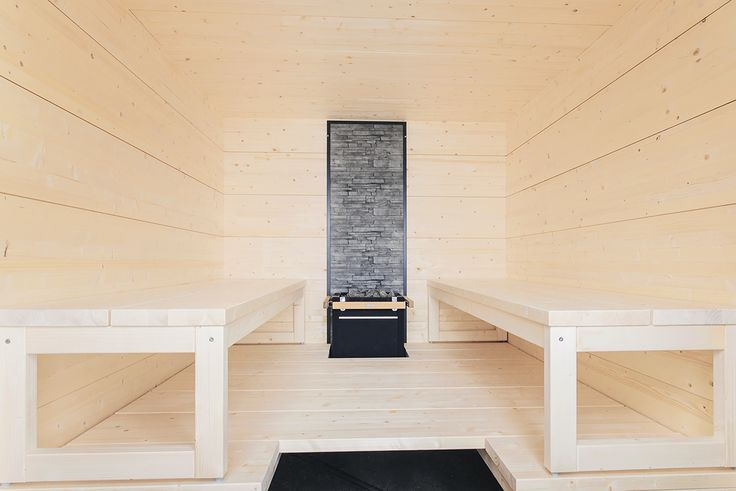 Harvia Solide interior combines natural materials with sculptural design. The result is warm and modern. #harvia #harviasolide #sauna #saunainterior #interiordesign #design #saunatrends