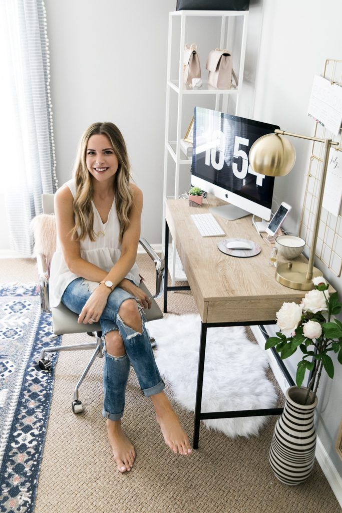 home office on a budget, Minneapolis fashion blog, blogger office reveal, taylor brown office tour