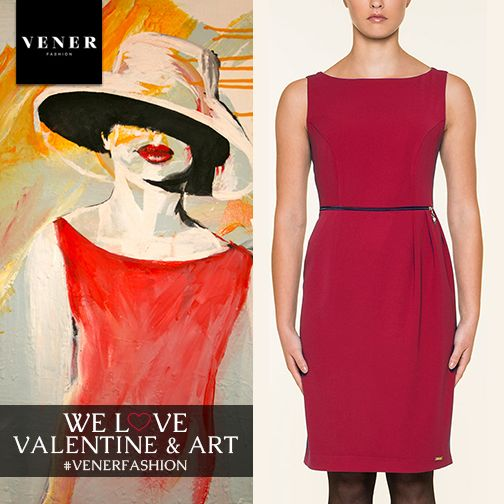 VENER can represent Love Art Woman and Red at the same time ( Check the red classy dress 60€ out of 99€ )