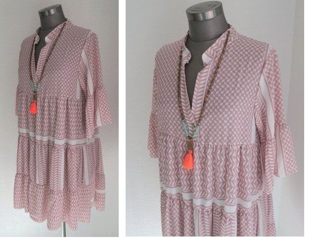 Boho Tunika Kleid Im Navajo Pali Ikat Print Palikleid In Etsy Boho Tunic Dress Boho Tunics Ikat Print