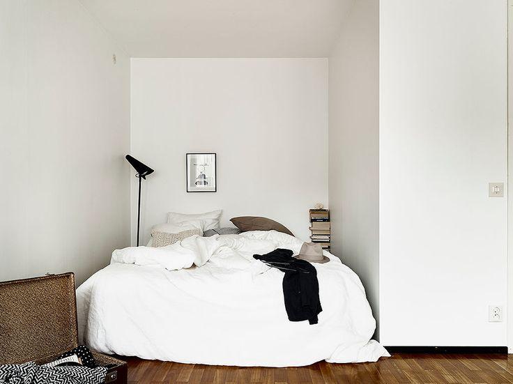 Soveværelse i en krog, hyggeligt.