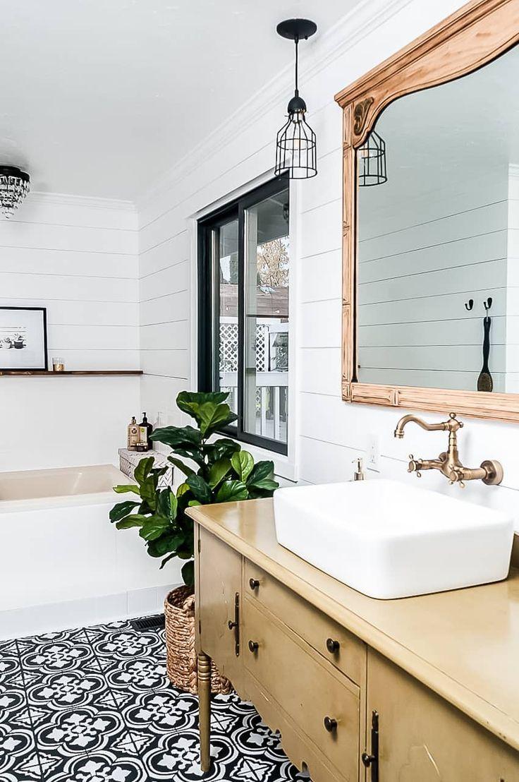 Farmhouse Bathroom Makeover On A Budget Best Bathroom Designs