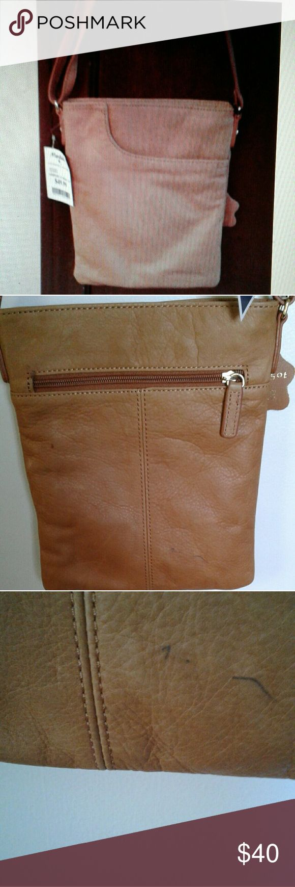 """Margot genuine leather purse SALE TODAY """"SPECIAL TODAY ONLY"""" $30 reg $40 NWT, EXTREMELY SOFT MARGOT GENUINE LEATHER BAG, brand new, never used, 81/2 """"width, 10"""" length, has a back zipper, a front pocket, 2 inside pockets, and inside zipper, nice deep golden color please note: small ink mark margot Bags"""