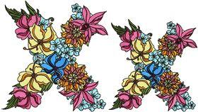 Exotic Flowers Font - Letter X