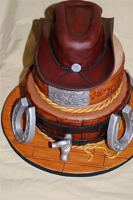 wow what a great western cake!