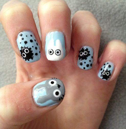 Google Image Result for http://inspiredocean.com/wp-content/uploads/2012/10/13_Totoro-Nail-Art.png