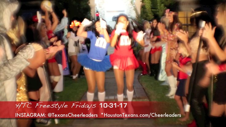 Houston Texans Cheerleaders - FREESTYLE FRIDAYS 10-31-17!  ||  Once a week, HTC turns on a CAMERA after practice and has a little fun for our fans! #BabesOnParade #GoTexans *Video Editing: The Instant Upgrade™ https://www.youtube.com/watch?v=0kdb1ifNEmI&hd=1