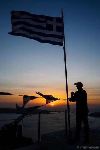 Raising the Flag During Sunset   mark eugen   Flickr