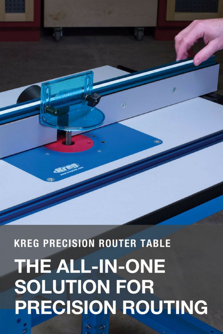 The new Kreg Precision Router Table System combines unmatched versatility with incredible adjustability and ease of setup to take your woodworking projects to the next level. This powerful system offers a large, durable table top, a one-of-a-kind T-square style fence, and a durable steel stand that work together to create a router table that meets all of your precision-routing needs.