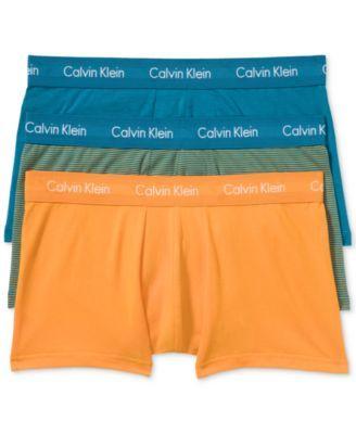 CALVIN KLEIN Calvin Klein Men'S Cotton Stretch Low-Rise Trunks 3-Pack Nu2664. #calvinklein #cloth # underwear