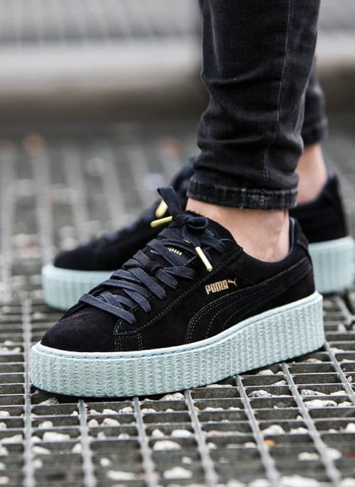 hot sale online 67cfb 260e2 Puma Fenty Creepers Black And White wearpointwindfarm.co.uk