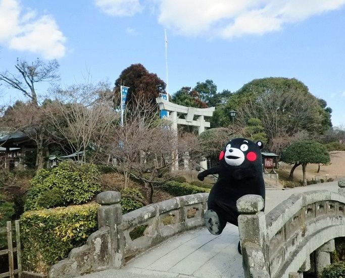 Kumamon, walking.
