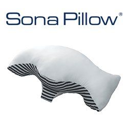 http://snoringsolutionsforever.com/pinnable-post/sona-stop-snoring-pillow-with-bonus-pillowcase-clinically-tested-the-sona-pillow-is-designed-to-stop-snoring-and-assist-with-treating-of-mild-sleep-apnea The Sona Pillow was designed and clincally tested by a group of researchers led by a leading neurologist and sleep expert. This patented pillow has been cleared by the FDA as an intraoral device for snoring and obstructive sleep apnea.  The Sona p...