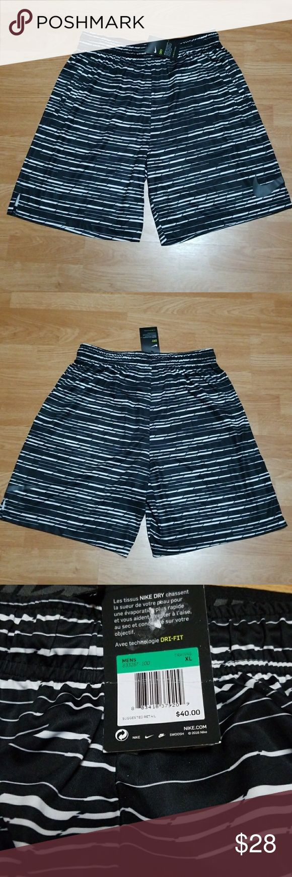 "NWT Men's Nike Workout Shorts New men's Nike sports shorts. 2 front pockets, slit on sides and inside string waistband. Waist to bottom is 22"". Nike Shorts Athletic"