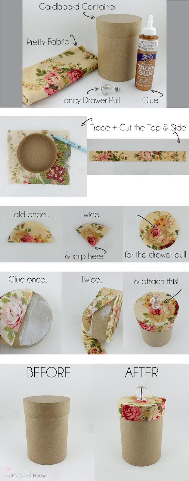 DIY Pretty Storage Containers | Smart School House: Craft and DIY Blog Site, Picture #3 of 4