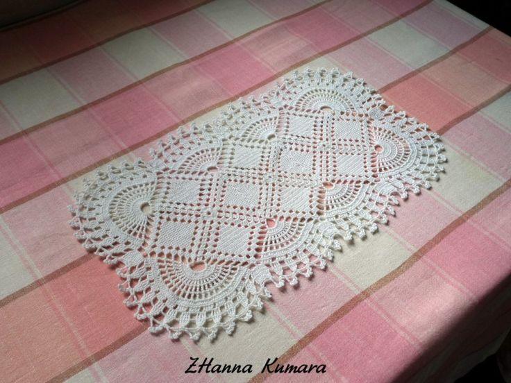 Прямоугольная филейная салфетка из мотивов, продается или на заказ 2000 рус руб