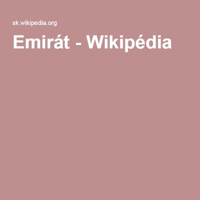 Emirát - Wikipédia