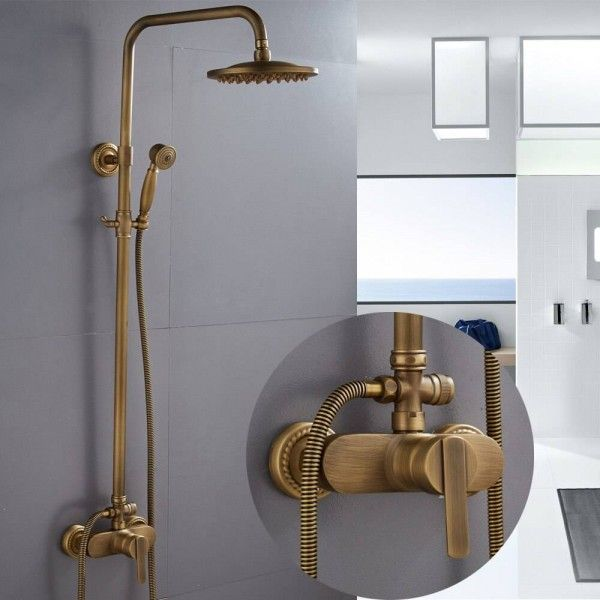 Shower Faucets Antique Color Bathroom Faucet Brass Bath Rainfall With Spray Shower Head Europe Faucet Bath Shower Set Xt368 Shower Fixtures Shower Plumbing Shower Faucets