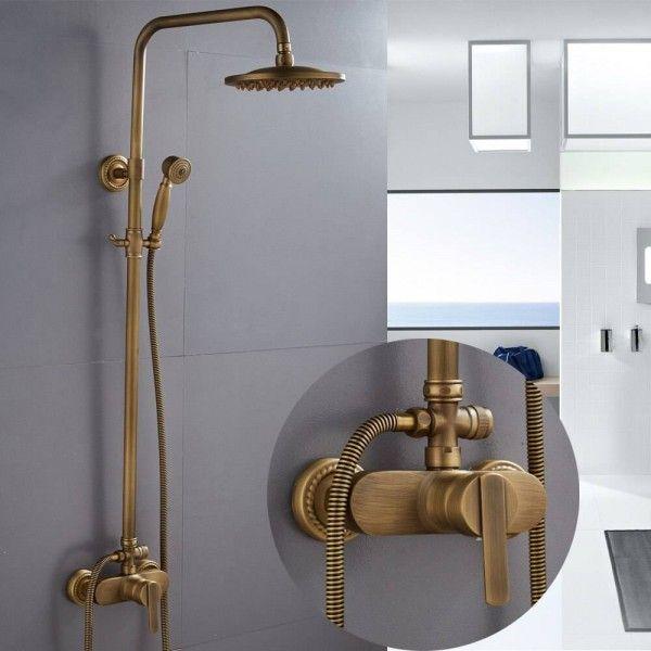 Shower Faucets Antique Color Bathroom Faucet Brass Bath Rainfall