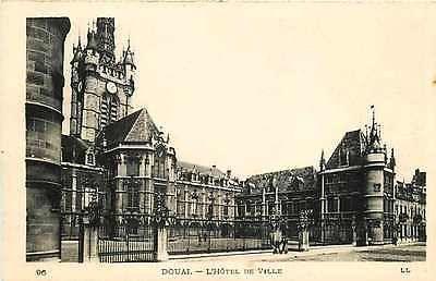 Douai France 1906 Hotel de Ville Ornate Gothic Belfry Antique Vintage Postcard
