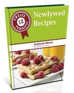 What a great idea a Newlywed Recipes e-book from @Stephanie Weaver.  I love that there is a traditional version and a #vegan and #glutenfree version!