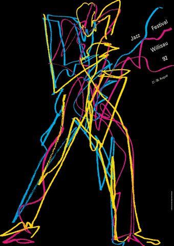 Willsau Jazz Festival (1992) poster design by Niklaus Troxler