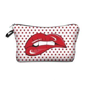Hot Red Lips Makeup Bag