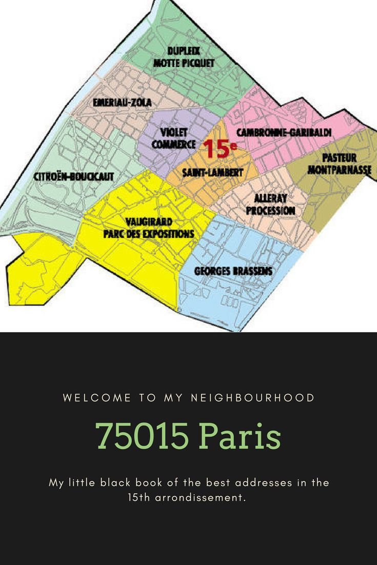 My little black book of addresses for the 15eme arrondissement.