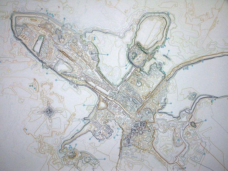 Giorgos Papadatos ,  Corporate city map 1. Drawing, marker on paper, 110 X 160 cm. 2007