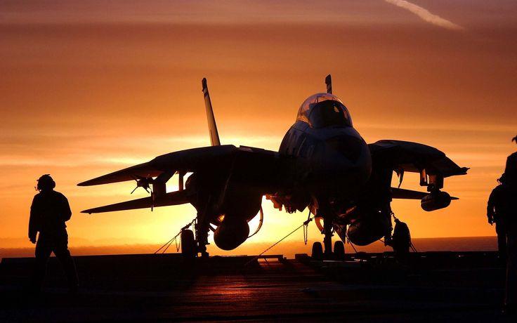 nice Ultra HD sunset aircraft carrier