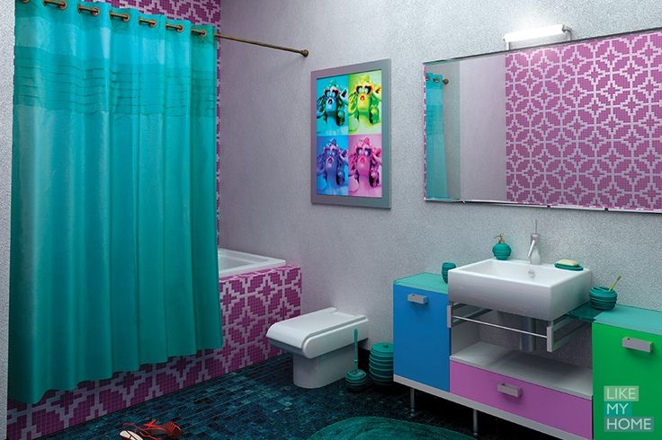 WESS Charlie - занавеска для ванной комнаты из ткани 200x200 см. Цена 2500р. Посмотреть на сайте:http://likemyhome.ru/catalog/shtorki-karnizy-kolca/00003151 #likemyhome #showercurtain #bathroomdecor #interiorstyle #wess #charlie
