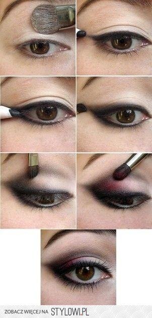 black-pink smokey eye