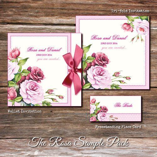 Rosa Wedding Stationery Sample Pack
