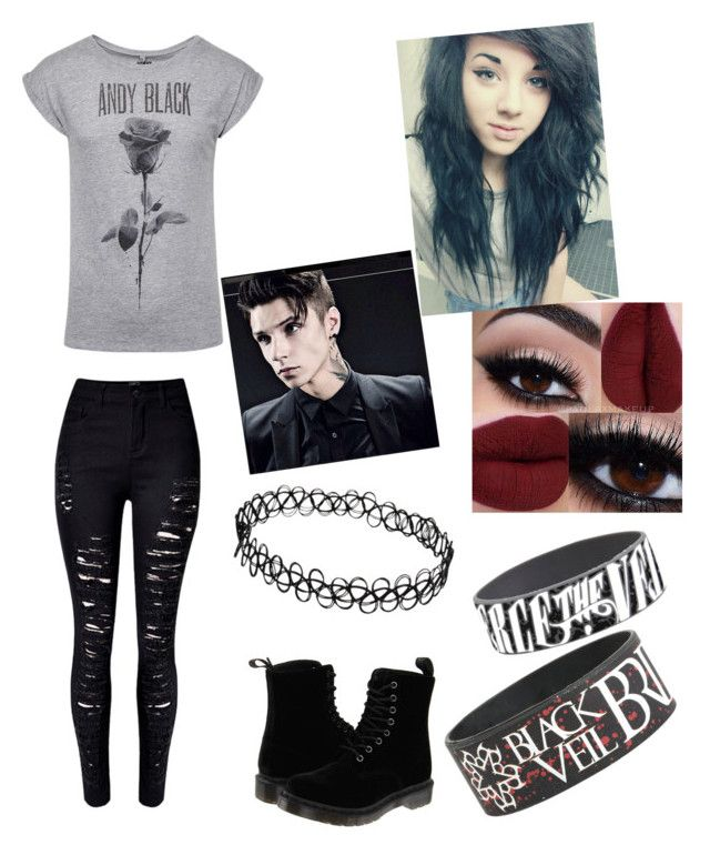 """Emo"" by asheyrae2003 ❤ liked on Polyvore featuring WithChic and Dr. Martens"
