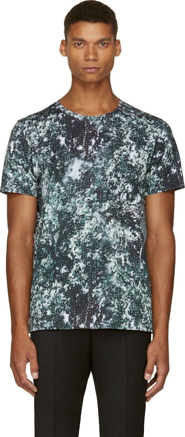 Green Pixelated Print T-Shirt by A.P.C.
