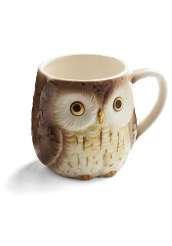 The sweet stare of this little owl will melt away your morning woes when you enjoy a cup of tea or coffee in this vintage mug!