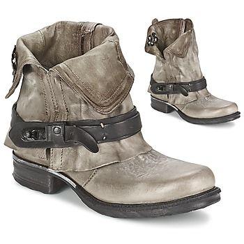 SAINT BIKE Grau / Schwarz #boots für Damen von #AS98; Preis:205,00 €; kommt mit vielen Stilen. Ausgestattet mit Inneneinrichtung und Leder Laufsohle, die Ihr Outfit passt. #SchuheDamen, #AS98Schuhe, #SchuheSale
