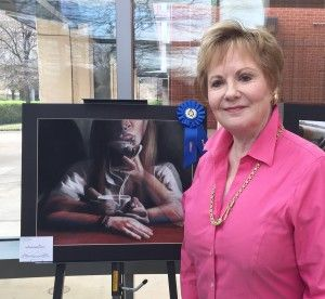 Moriah Gonzales, LCCS senior, wins Congressional Art Competition! Congresswoman Kay Granger pictured with Moriah's winning entry. #lccseagles