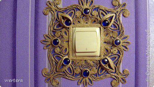 Поделка изделие Моделирование конструирование Джутовая филигрань Часы и накладка для выключателя Шпагат фото 6
