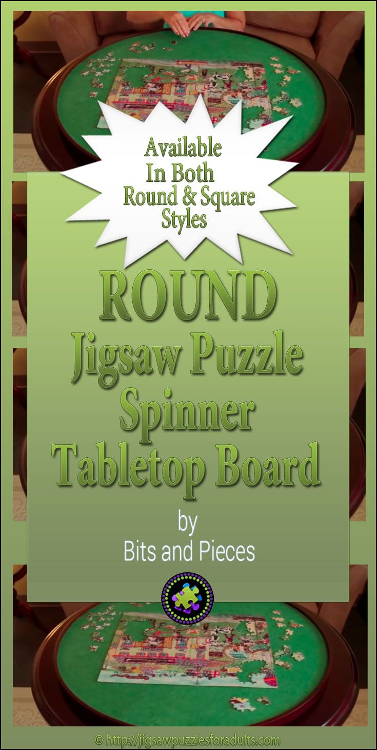 You'll LOVE this Round Jigsaw Puzzle Spinner Board! It's the ideal Gift for anyone who works on a lot of puzzles and doesn't like moving around the table. Be sure to check out this spinner.