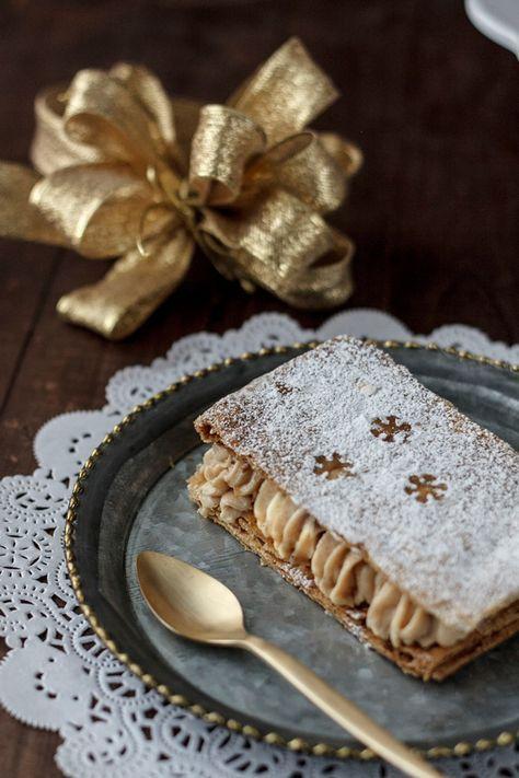 Milhojas de turrón para Navidad