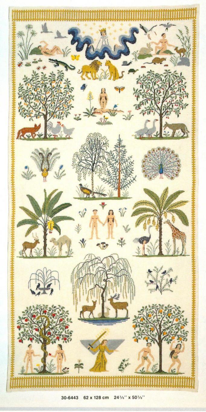The Garden of Eden, by Gerda Bengtsson, Danish Handcraft Guild
