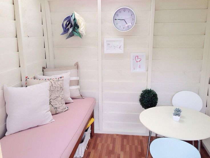 Inside our new cubby house.