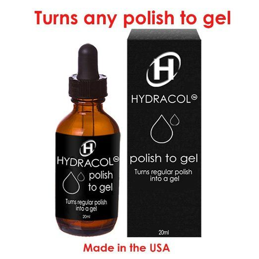 Hydracol Gel Nail Polish Turns ANY Regular Shades Into a Hard Varnish Color. Paint Nails Cure With LED / UV Lamp