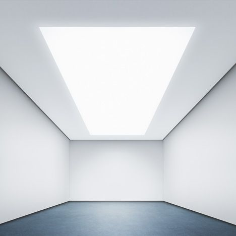 """Architects will be able to """"specify a material's luminosity,"""" claims lead designer at Philips. This image shows the Philips OneSpace ceiling panel"""