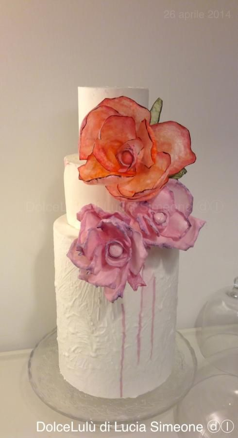 water-colour effect cake